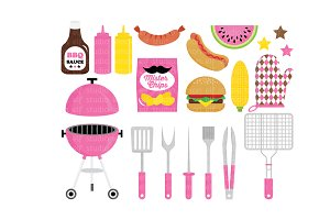Barbeque Party Clipart (LES.CL39D)