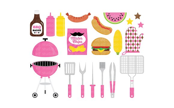 Barbeque Party Clipart