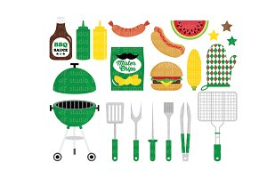 Barbeque Party Clipart (LES.CL39C)