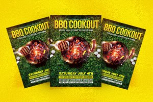 BBQ & GRILLING COOKOUT FLYER