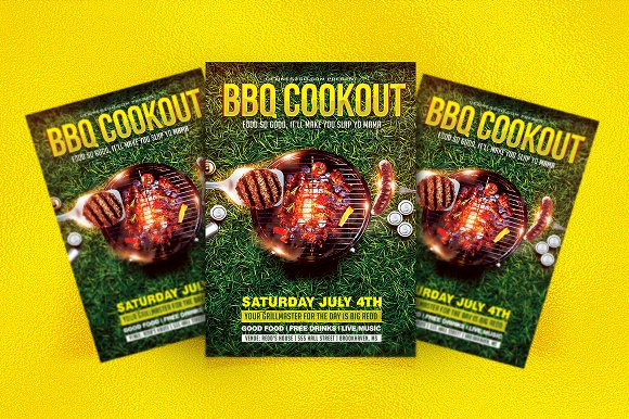 bbq grilling cookout flyer