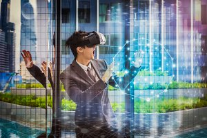VR technology concept