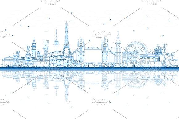 Outline Famous Landmarks In Europe