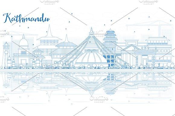 Outline Kathmandu Skyline