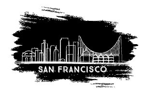 San Francisco Skyline Silhouette.