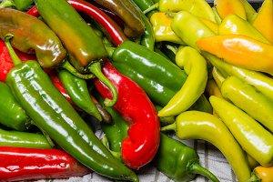Hot peppers in bulk