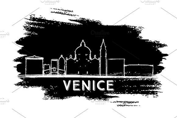 Venice Italy Skyline Silhouette