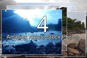 Nature View with Waterfall and rocks