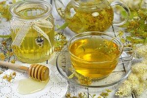 Honey and linden tea