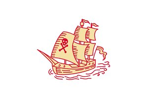 Pirate Sailing Ship Galleon