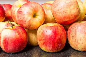 Jonagold apples in the kitchen