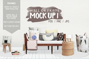 Kids Room Wall/Frame Mock Up 1
