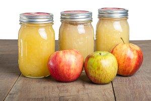 Jars of applesauce