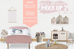 Kids Room Wall/Frame Mock Up 2