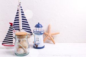 Sea vacation theme decorations.