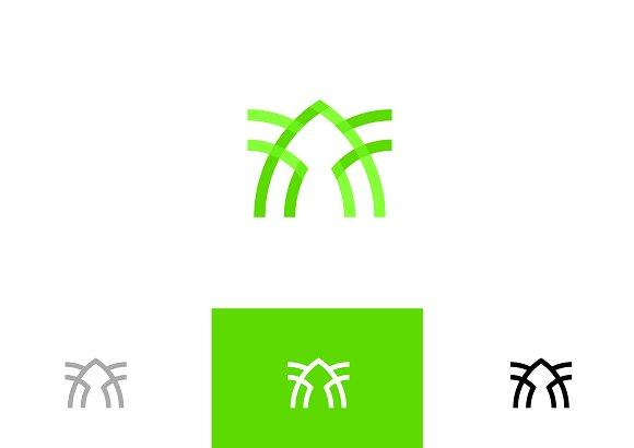 Abstract Green Symbol Logo