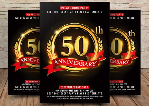50th 25th Anniversary Flyer Flyer Templates Creative Market – Anniversary Flyer