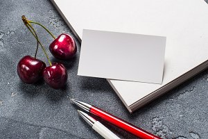 Cherry and an empty card