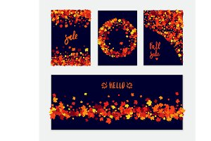Autumn vector banner set