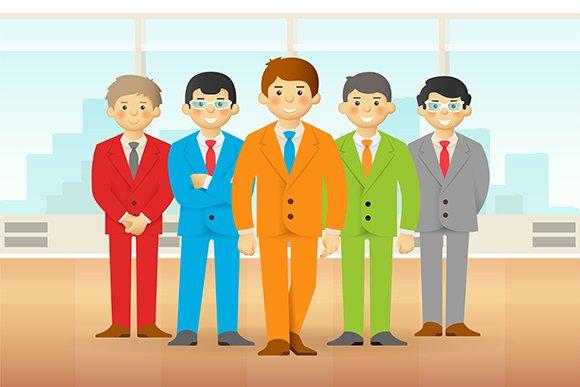 Business Team Cartoon Style