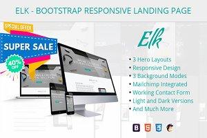 ELK-Bootstrap Responsive LandingPage