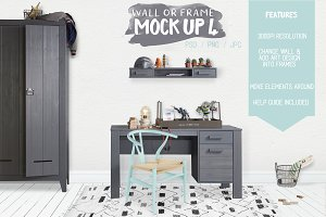 Kids Room Wall/Frame Mock Up 4