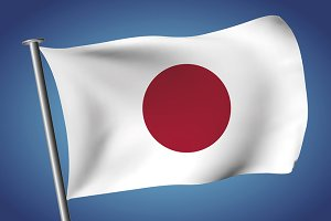 Japanese flag. Flag of Japan