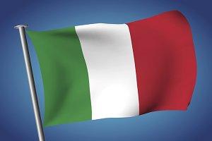 Italian flag. Flag of Italy