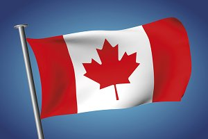 Flag of Canada. Canadian flag