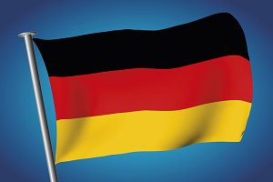German flag. Flag of Germany