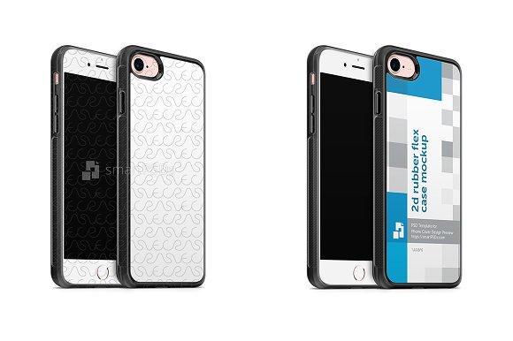IPhone 7 2d Rubber Flex Mobile Case