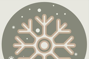 icon of cold sign depicting snowflake