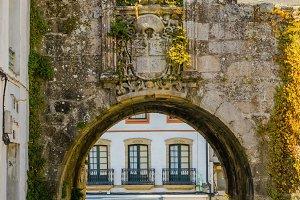 Santiago Gate in Lugo wall