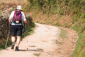 Pilgrim in Camino de Santiago