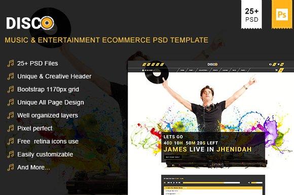 Disco Entertainment PSD Template