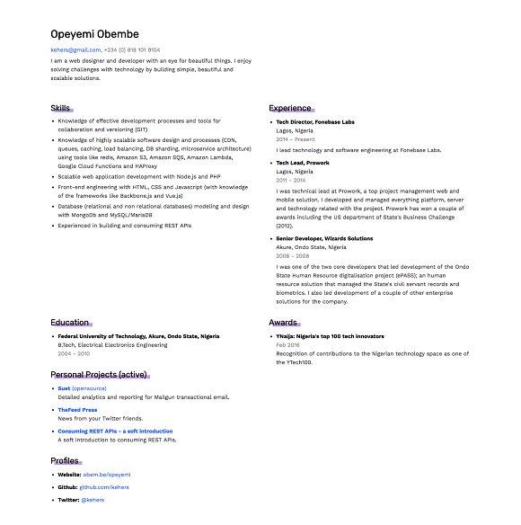 simple cv html css themes creative market