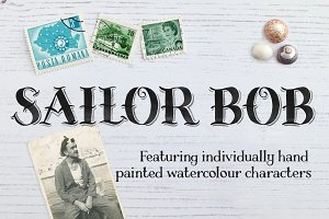 Sailor Bob Watercolour Display Font