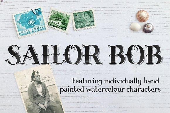 Sailor Bob Watercolour Display Font