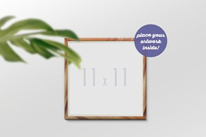 Frame Mockup with a Flower