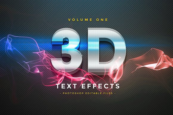 3D Text Effects Vol.1 - Add-Ons
