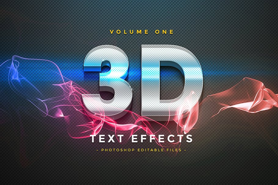 3D Text Effects Vol 1 ~ Photoshop Add-Ons ~ Creative Market