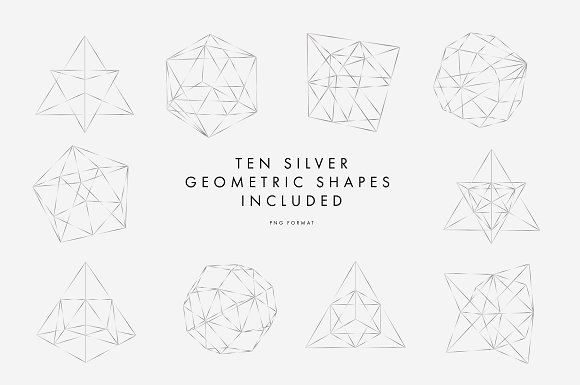 Silver Geometric Pattern