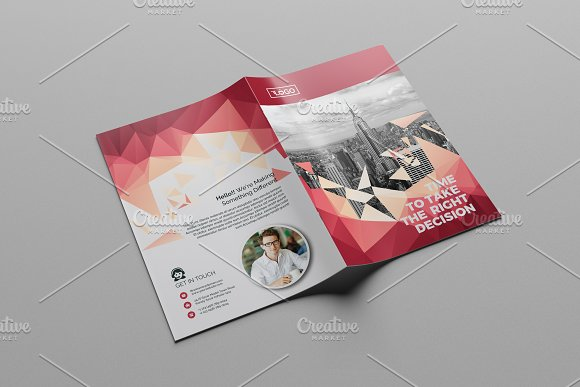 Abstract Bi-Fold Brochure