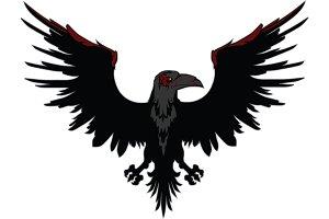 Angry Dark Raven