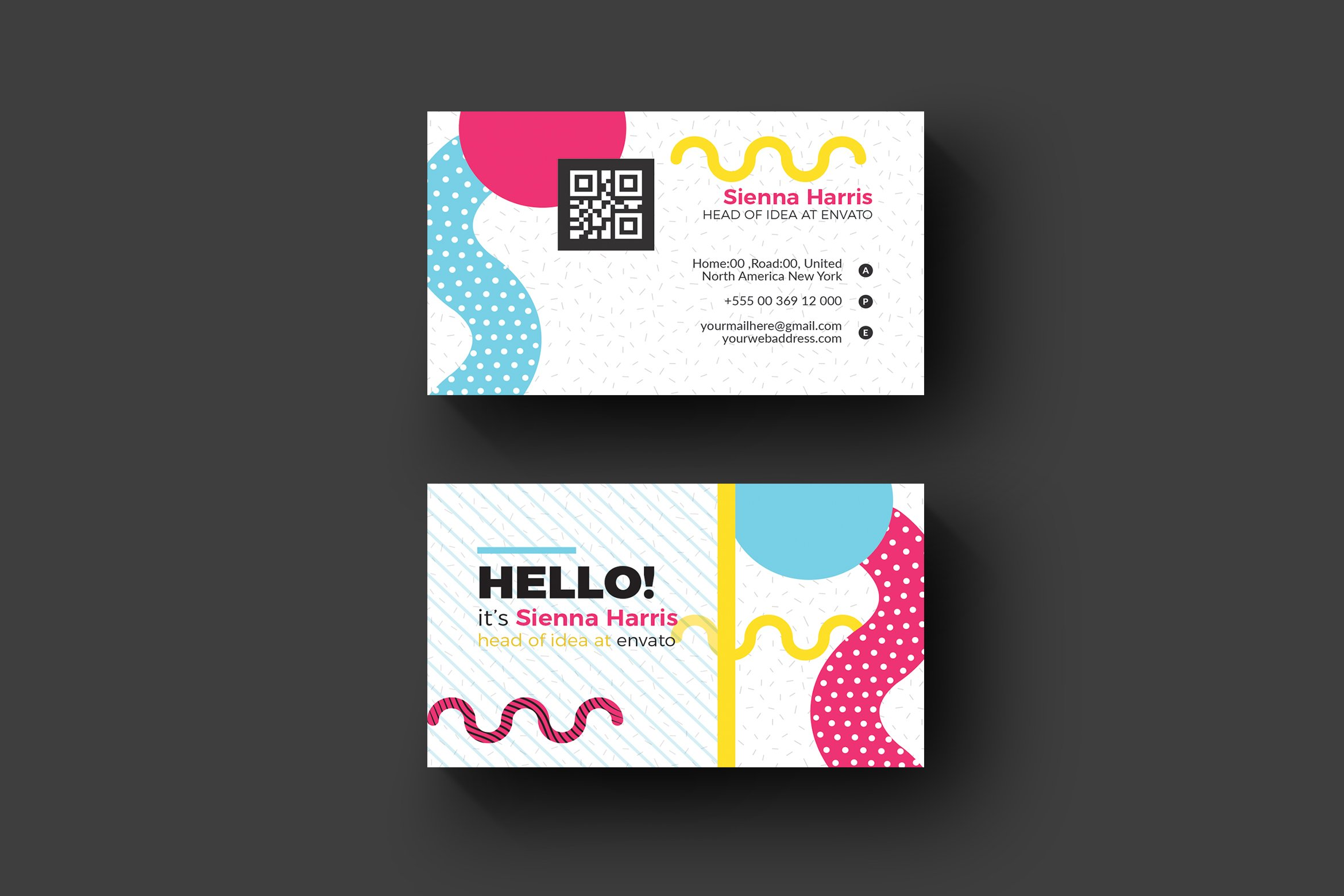 Memphis business card business card templates creative for Business cards memphis