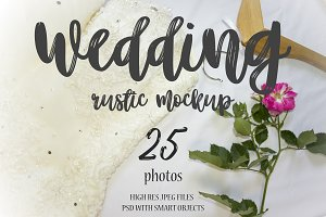 Wedding rustic Mockup