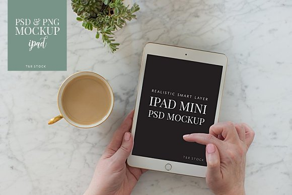 IPad Mockup Finger Scrolling Coffee