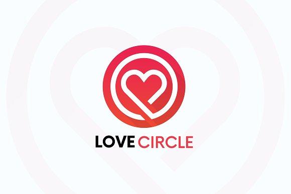 LOVECIRCLE Heart Logo Love Sign