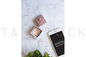iPhone Mockup with Wedding Ring