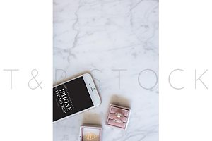 iPhone Mockup Wedding Flat Lay